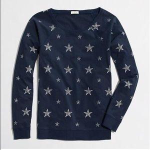 J. Crew Star Print Long Sleeve Shirt Size Medium